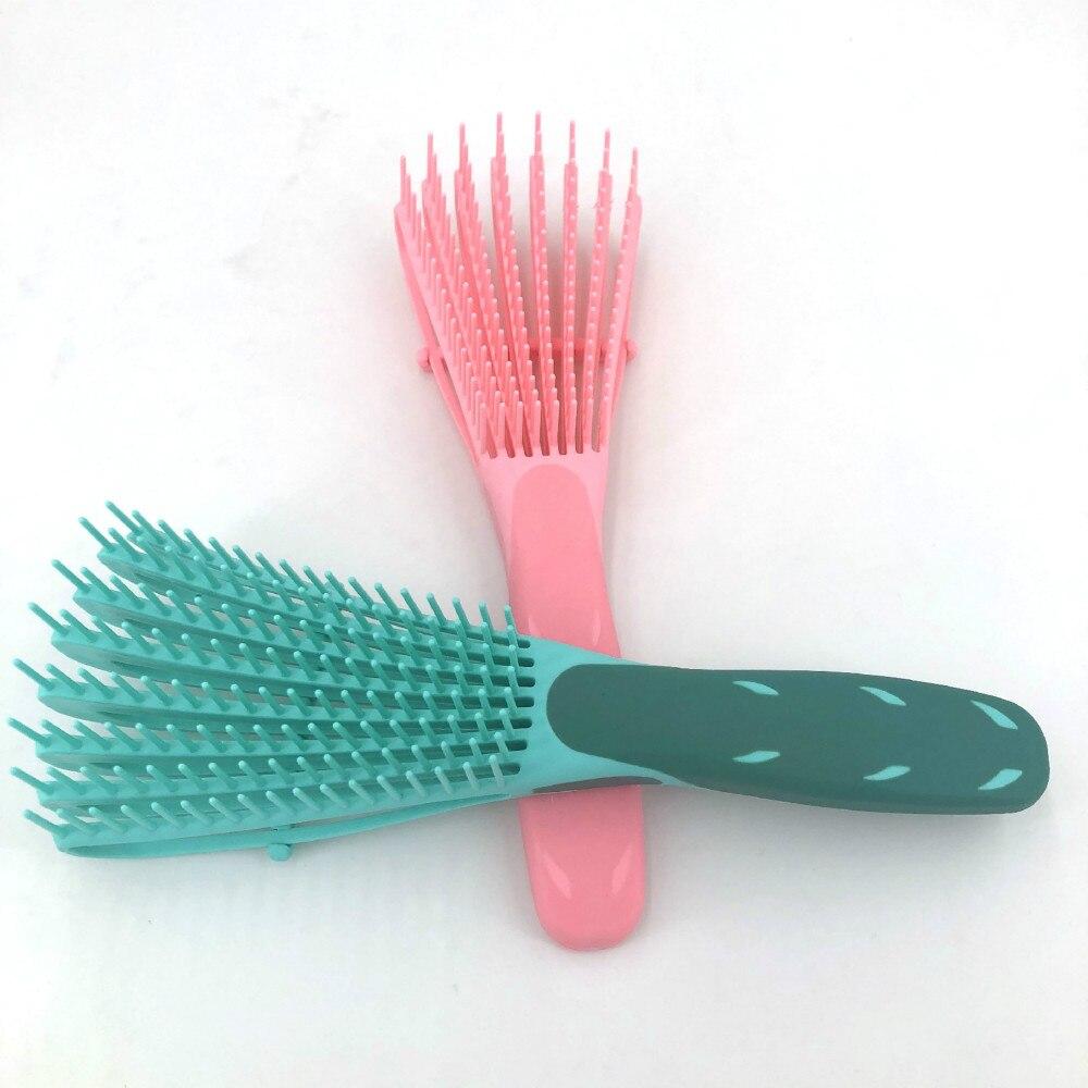 Mint green/Pink Hair Brush Scalp Massage Comb Women Detangle Hairbrush Comb Health Care Reduce Fatigue