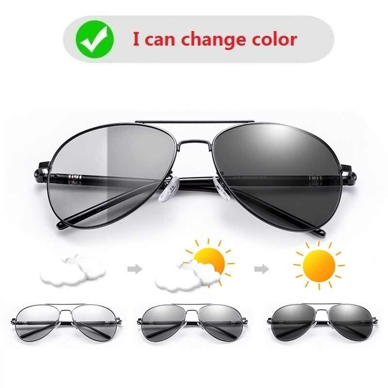 Lunettes de soleil photochromiques à changement de couleur pour hommes *