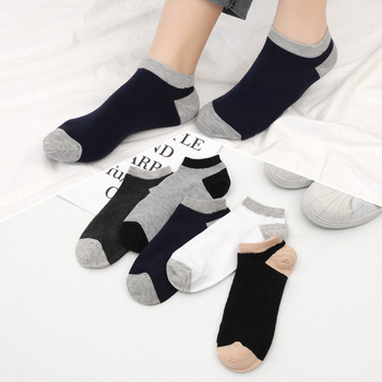 2020 Autumn Men's Ankle Socks Individually Packaged Thin Padded Socks Breathable Sweat-Absorbent Soc