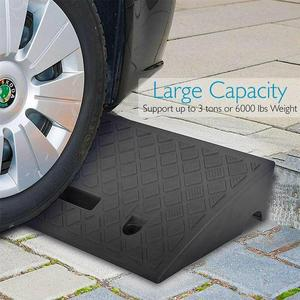 1pc Car Ramps Hard Plastic Curb Ramps Driveway Sidewalk Ramps Heavy Duty Threshold Ramp For Car Truck Scooter Bike Motorcycle(China)