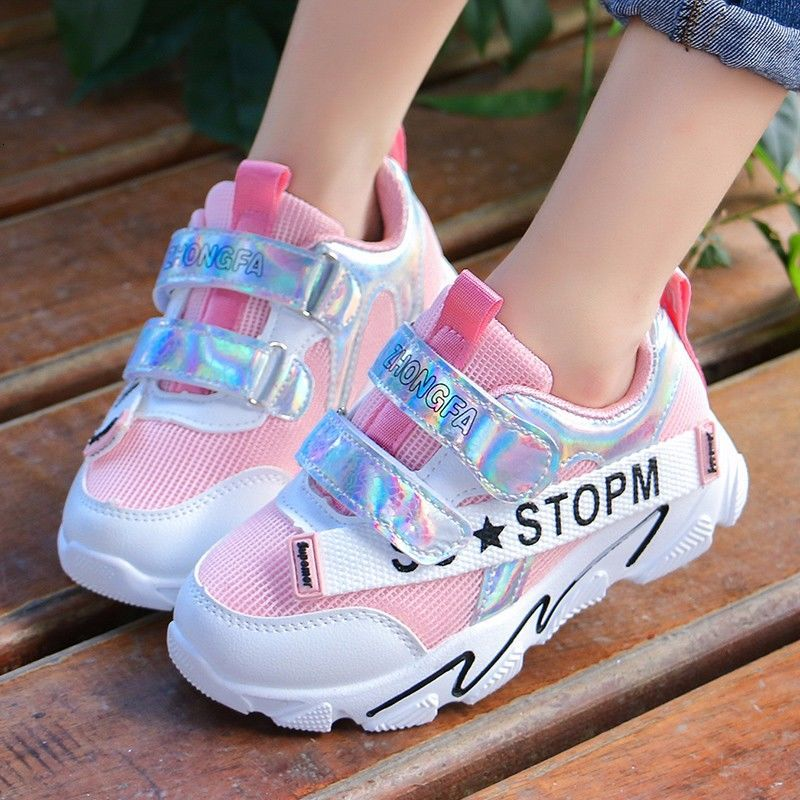 Beautiful Casual Children's Shoes Mesh Breathable Running Sneajer Non-slip Lightweight Sports Kids Casual Shoes For Girls Boy