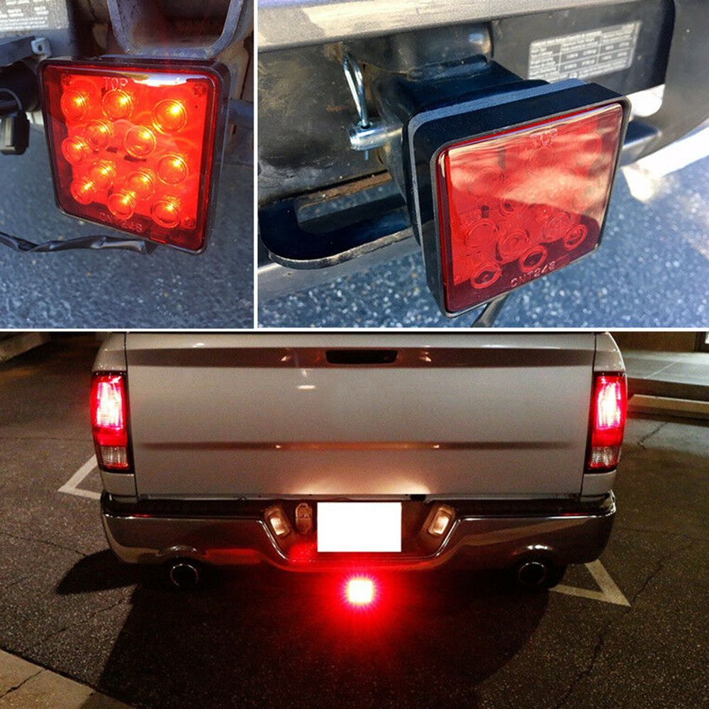2-inch Trailer Truck Hook Mount Tail Light 12LED Tow Bar Rear Lamp Taillight Applies All 2-inch Trailer Hook Receivers