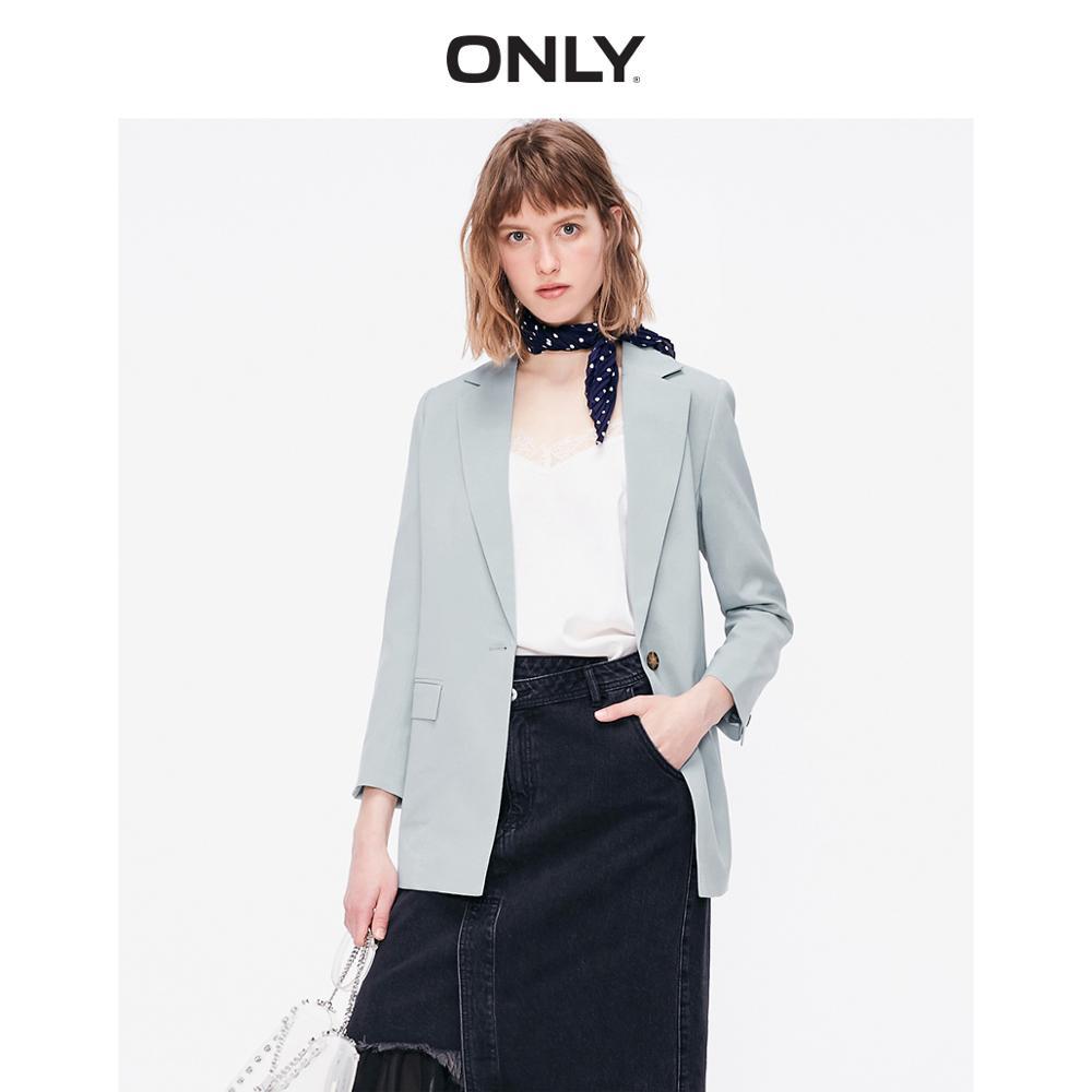 ONLY Women'sLoose Fit Pure Color Split Suit Jacket   119208502