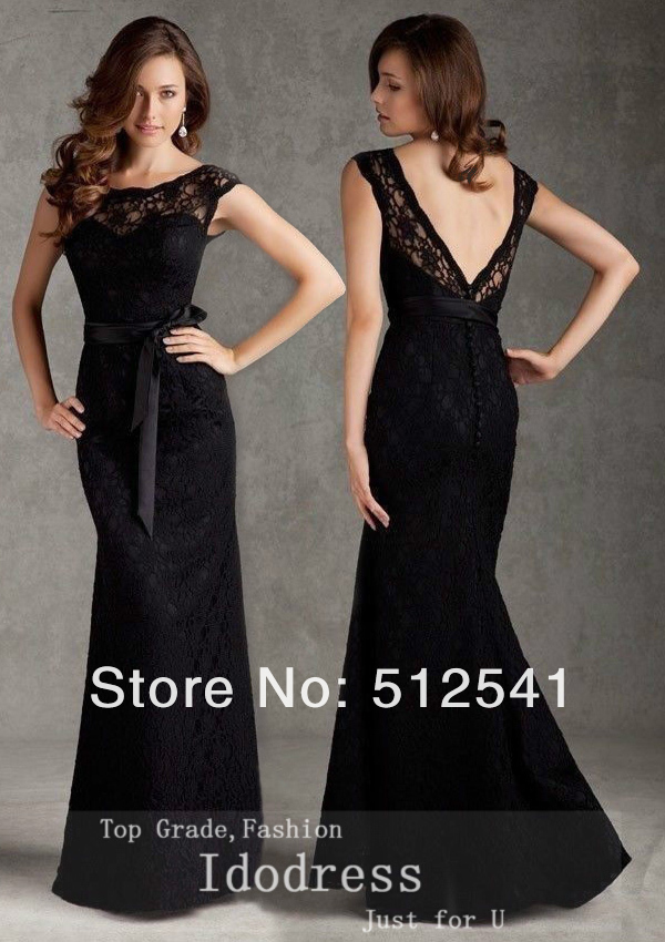 Black Sexy Backless Lace Mermaid 2018 Mother Of The Bride Dresses Theath Sheer Sweetheart Floor Length Women Evening Gowns