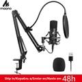 Комплект USB микрофона MAONO AU-A04  192 КГц  24 бит  профессиональный конденсаторный микрофон для подкастинга  микрофон для ПК  караоке  YouTube  студийн...