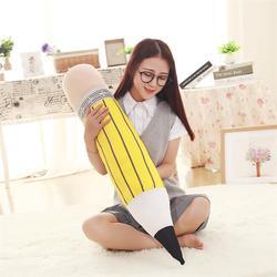 Lindo lápiz de colores muñeca almohada de gran tamaño niños lápiz regalo de cumpleaños el Test escolar para los estudiantes de secundaria