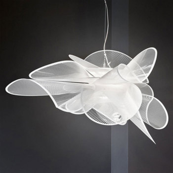 Italian Nordic butterfly petal-shaped designer lamps simple and modern living room dining room bedroom LED mesh pendent lights