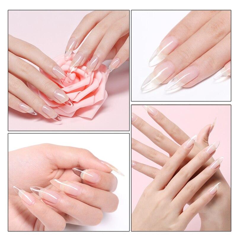 20pcs/Bag Transparent Quick Building Mold Nail Tips Nail Forms Finger Extension Builder Mixed Sizes UV Gel Nail Art Accessories thumbnail