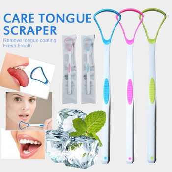 1PC Tongue Brush Portable Tongue Scraper Cleaner Home Brush Oral Care Toothbrush Tongue Cleaning Tool Fresh Breath 1