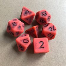 7 шт./лот набор костей D4 D6 D8 D10 D10 % D12 D20 красочные полигедрические кости для настольной игры для игр TRPG