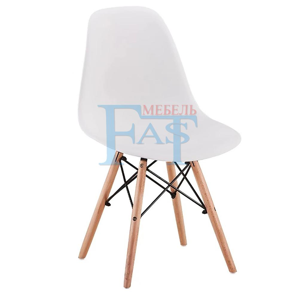 4 Pcs Dining Chair Set On Beech Legs With Art Design Hard PP Plastic Seat Kitchen Chair Home Chair Meeting Chair White Chair