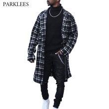 British Style Trench Coat Men 2020 Brand Plaid Mens Cardigan Overcoat Casual Slim Fit Gentlemen Long Jacket Coat Outwear for Men