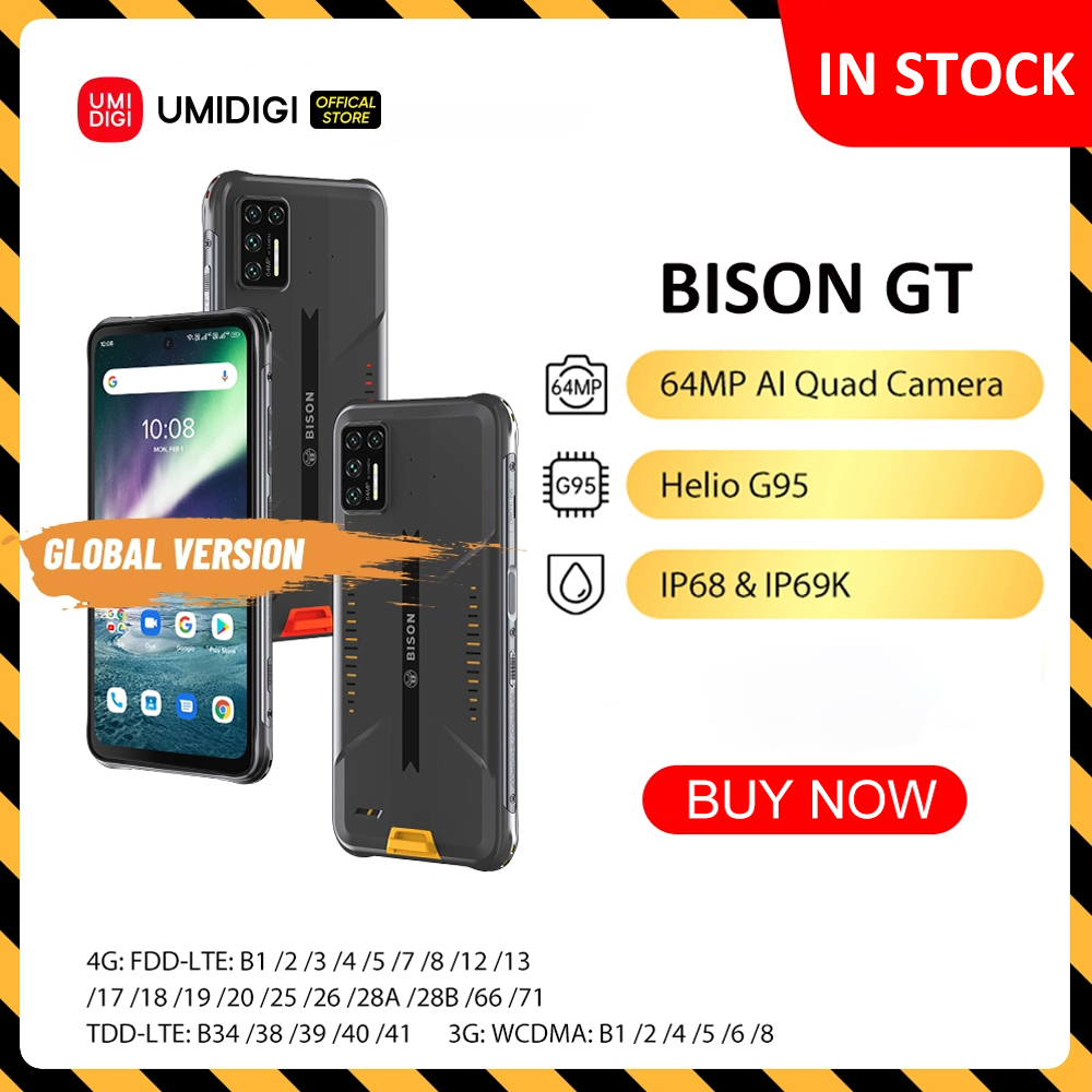 UMIDIGI BISON GT impermeabile IP68/IP69K Helio G95 telefono robusto 64MP AI Quad Camera 8GB 128GB 6.67  1