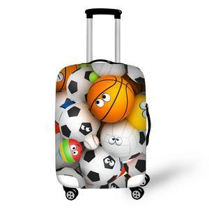 Эластичный Чехол для багажа с рисунками футбольного баскетбола, гольфа и футбола, Защитные чехлы для 18-32 дюймов, чехол для багажника, сумка д...