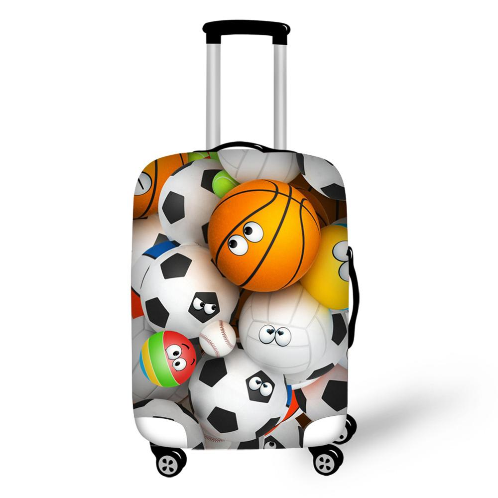 Football Basketball Golf Soccer Patterns Luggage Elastic Suitcase Protective Covers For 18-32 Inch Trunk Case Luggage Cover Bag