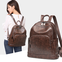 HOT SALE Retro oil wax skin backpack 2019 NEW Large capacity traveling women's backpack Fashion leisure backpack school bag
