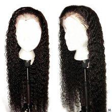 Вьющиеся человеческие волосы парики для волос с детскими волосами Реми бразильские парики 13x4 бесклеевой Синтетические волосы на кружеве парики из натуральных волос с Африканской структурой, Для женщин 150