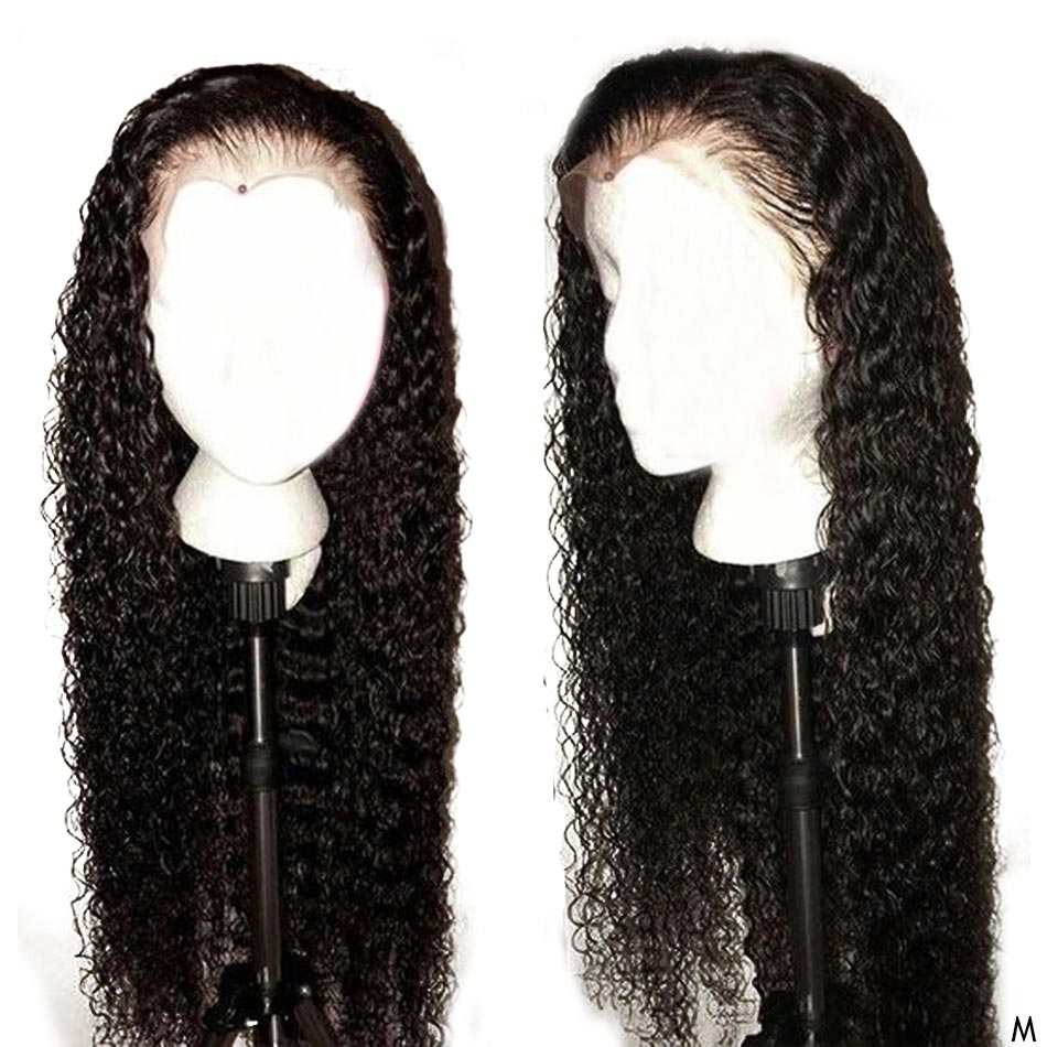 Curly Human Hair Wigs Pre Plucked With Baby Hair Remy Peruvian Wigs 13x4 Glueless Lace Front Human Hair Wig For Black Women 150%