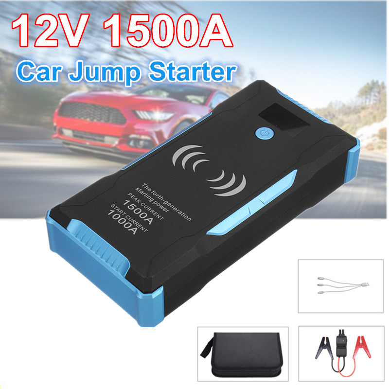 Car jump Starter Power Bank Booster 22000mAh 1500A Quick Wireless Charing Emergency Upgraded Version Car Battery Charger|Jump Starter| |  - title=