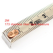 1PC 2 m 173 steel tape measure nickel plated with waterproof rust household meter ruler