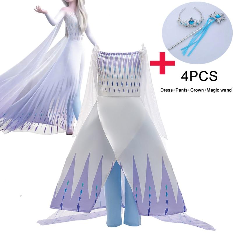 Girl Party Dress Snow Queen Frozen 2 Dress Girls Princess Dresses Kids Girl Christmas Halloween Cosplay Dress