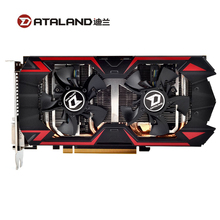 Dataland r9 380 4gb placas gráficas gpu para amd radeon R9-380 r9380 placa de vídeo computador mapa do jogo 1792sp 980mhz mainstream usado