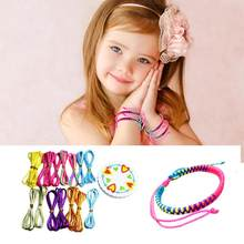 DIY Toys Puzzle Creative Ribbon Woven Bracelets Handmade Charm Strand Ropes Jewelry Making for Children Creation Toys(China)