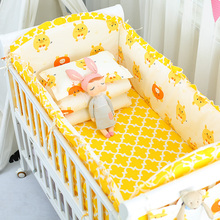 Cotton Baby Crib Bumper Animal Boy Girl Bedding Sets Newborn Bed Sheet 5 Pieces Flat Sheet Knot Design Fence Protector promotion 5pcs mesh baby bedding set crib bumper baby bed linens for girl boy bed sheet include 4bumper sheet