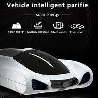Professional Auto Aroma Diffuser Solar Air Purifier Freshener for Car Ionizer HEPA PM2.5 Eliminator hot