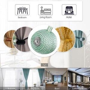 Image 2 - 1 adet mıknatıs perdeler bandaj toka yaratıcı ev tekstili perde kayış toka tutucu pencere dekoratif aksesuarları