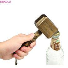 Ouvre-bouteille en plastique, Thor créatif, ouvre-bouteille souvenir, marteau, fournitures de cuisine et Bar