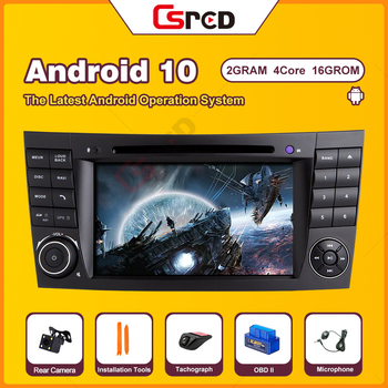 Csred Auto Radio Stereo For Mercedes Benz E Class W211 CLS G GLK W219 W463 W209 GPS Navigation Multimedia Player Fiber Decoder image