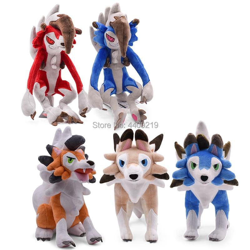 5 Styles Sun Moon Alola Solgaleo Lunala Lycanroc Dusk Lycanroc Daytime Sitting Lycanroc Plush Toy Animals Peluche Doll Toys(China)