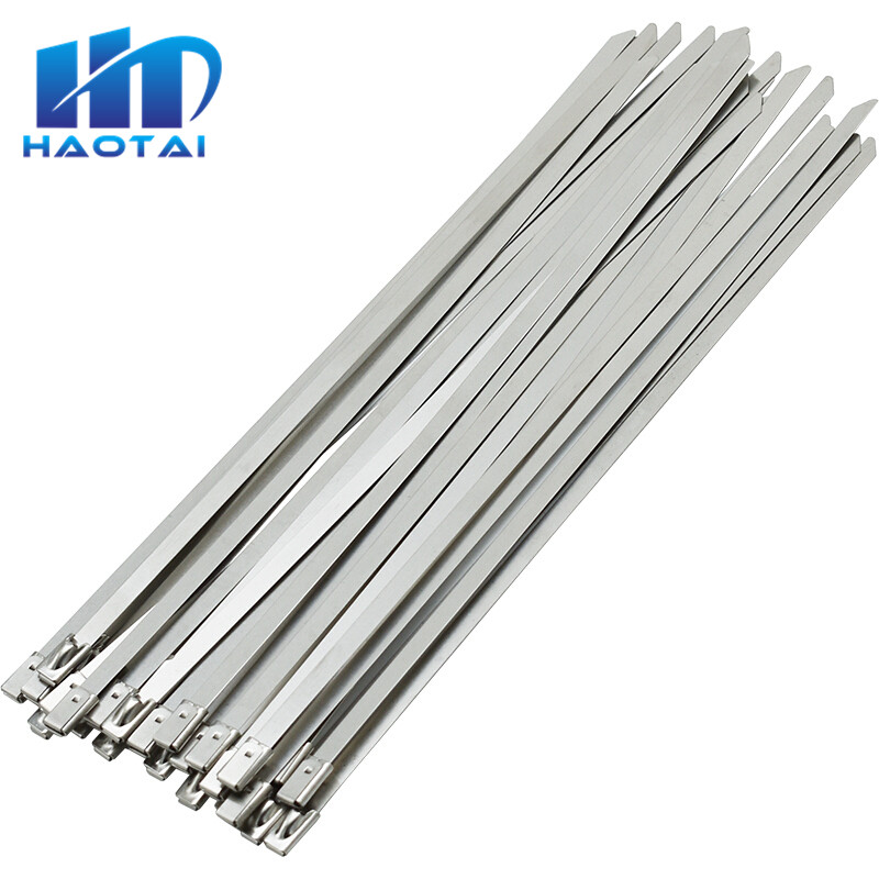 4.6mm x 520mm STAINLESS STEEL SPRING TYPE METAL CABLE TIES TIE ZIP WRAP EXHAUST
