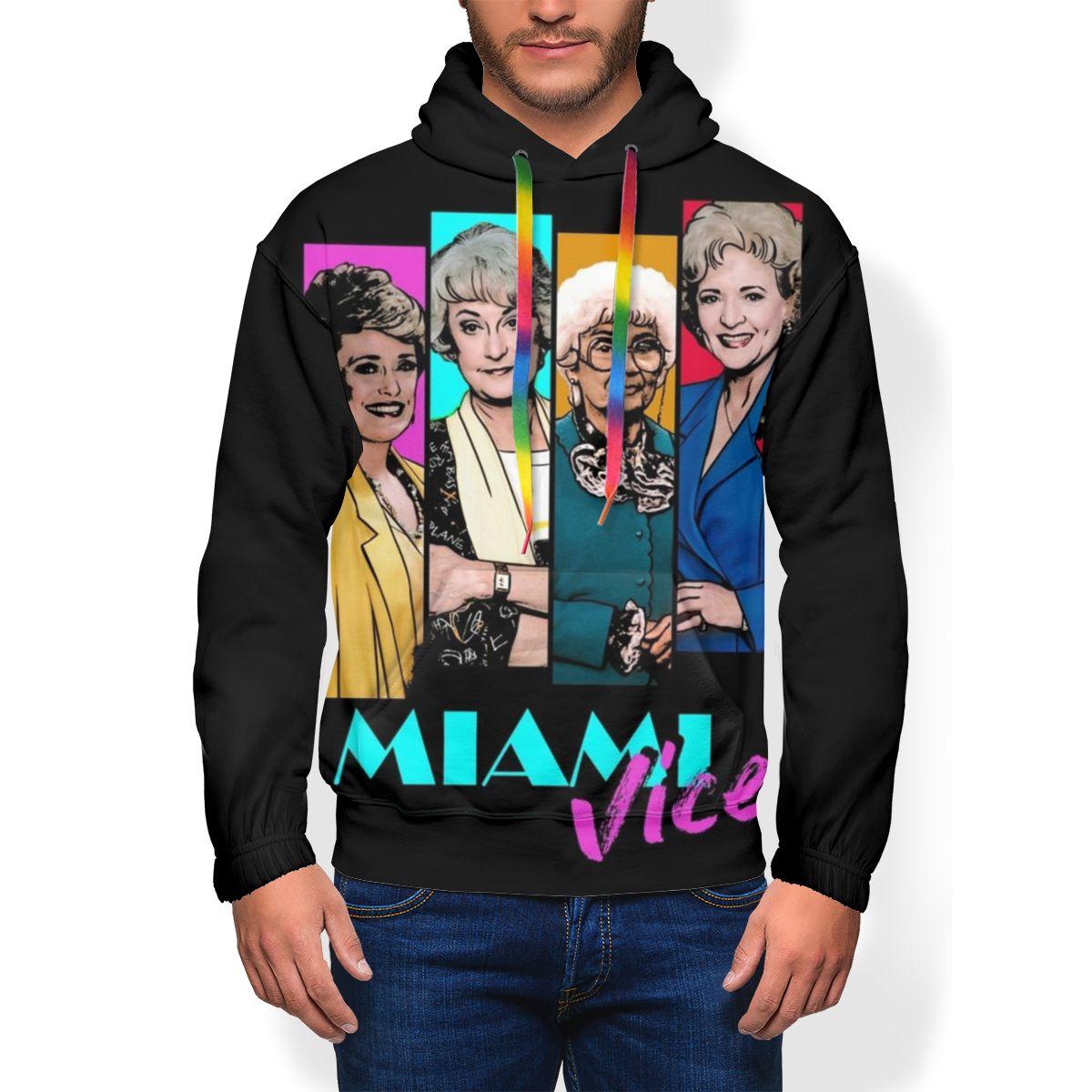 Image 2 - Golden Girls Hoodie Miami Vice Hoodies Oversize Long Length Pullover Hoodie Outdoor Polyester White HoodiesHoodies & Sweatshirts   -