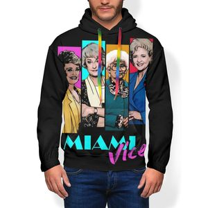 Image 2 - Golden Girls Hoodie Miami Vice Hoodies Oversize Long Length Pullover Hoodie Outdoor Polyester White Hoodies