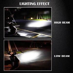 Image 5 - Ampoule Led de vélo, de moto, accessoire, pour Scooter, H4 H6 BA20D, ampoule Led, puce COB à 4 côtés, 2000lm, Super lumineux, 6000K, 12W