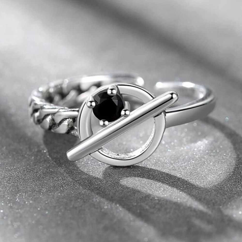 NEHZY 925 sterling silver nowa biżuteria nowy damski pierścionek Retro Hollow czarny rozmiar otwarcia regulowany tajski srebrne dla mężczyzn opaska z kokardką