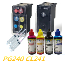 Refillable Ink cartridge for Canon PG 240 CL 241 + 400ml CANON PG240 CL241 INK CARTRIDGE PIXMA MX472 MX512 MX522 MX532