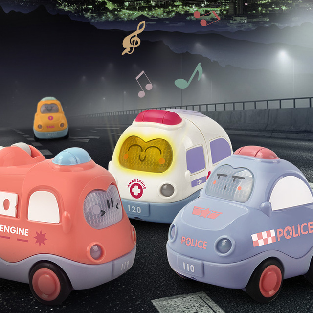 4PCS/Lot Baby Toy Car for 1 Year Old Toddler Birthday Gift Toys Cartoon Wind up Car for 2 Year Old Boys Kids Learning Education