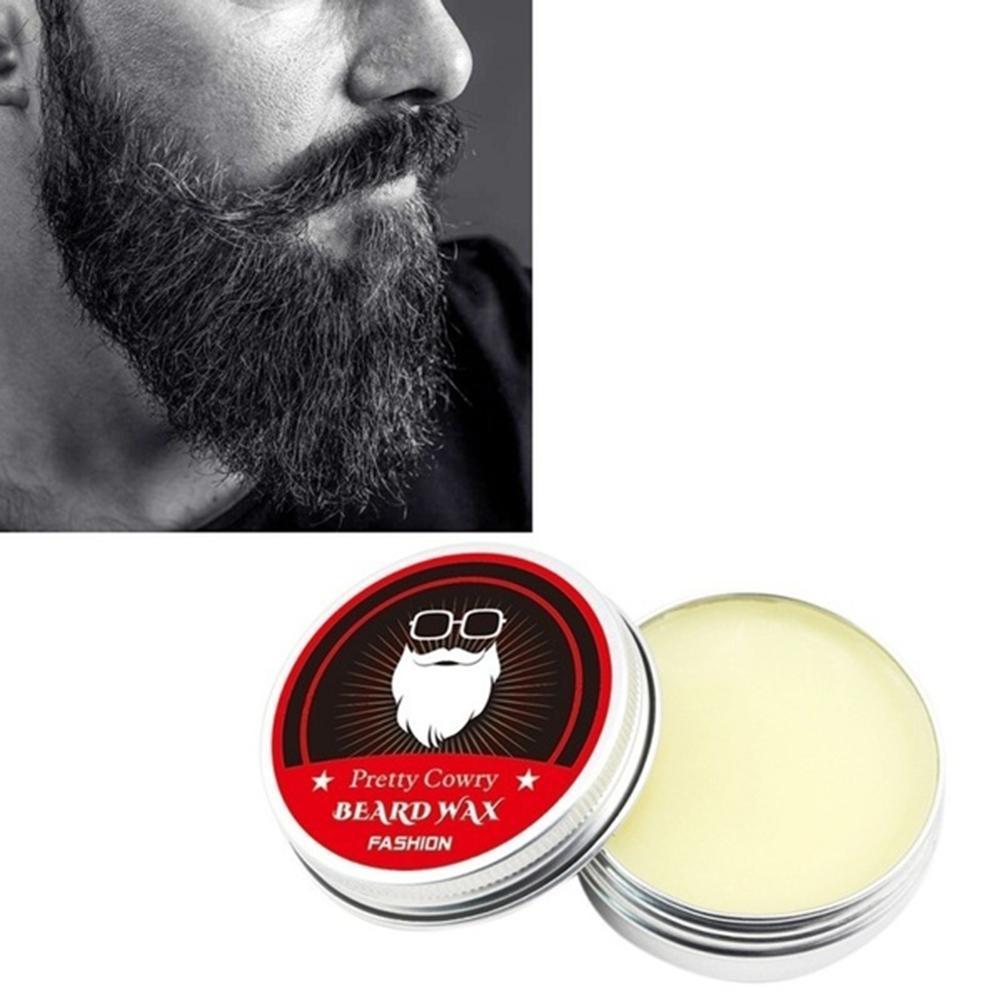 Men Beard Balm Moustache Styling Wax Cream Smoothing Gentlemen Facial Hair Care