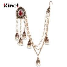 Kinel индийские ювелирные изделия серьги звенья головной убор