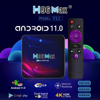 H96 Smart TV Box Android 11 4K Hd Youtube Google Play 5G Wifi Bluetooth Receiver Media Player HDR USB 3.0 4G 32Gb 64Gb Tv Box 2