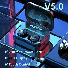 BT 5.0 Bluetooth Earphones TWS 8D Stereo Wireless Earbuds IPX7 Waterproof Headset LED Display 2200mAh X7 Earphone Touch Control