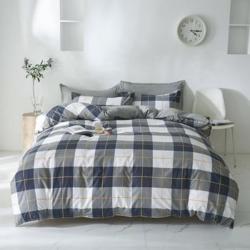 Simple Bedding Set Black And Grey Blocks 7