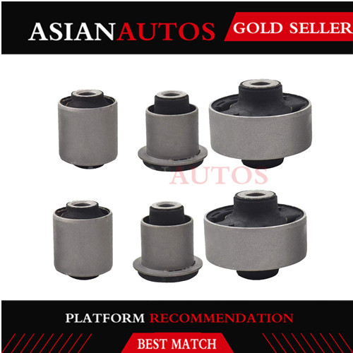 51391-SDA-A03 51391SDAA03 Front Lower Control Arm Inner & Outer Bushing Kit Set of 6 for Accord TL TSX