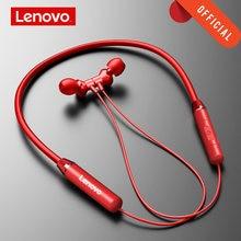 Lenovo bezprzewodowe słuchawki Bluetooth 5.0 magnetyczne słuchawki z pałąkiem na kark IPX5 wodoodporne sportowe słuchawki z mikrofonem z redukcją szumów