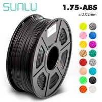 Sunlu abs filamento do abs da impressora 3d filamento 1.75mm 3d filamento de impressão baixa precisão dimensional odor +/-0.02mm 2.2 libras (1 kg)