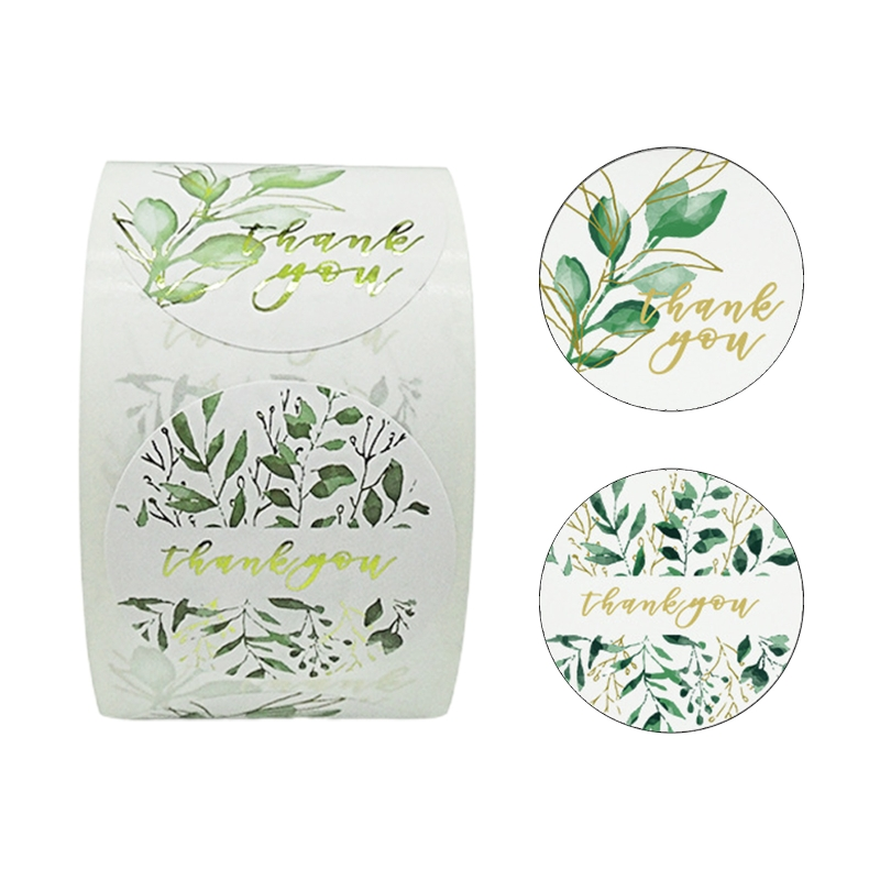 500pcs Thank You Stickers 1.5 Inch Leaves Seal Label for Small Shop Gift Baking Wedding Envelope Stationery Sticker Stickers  - AliExpress