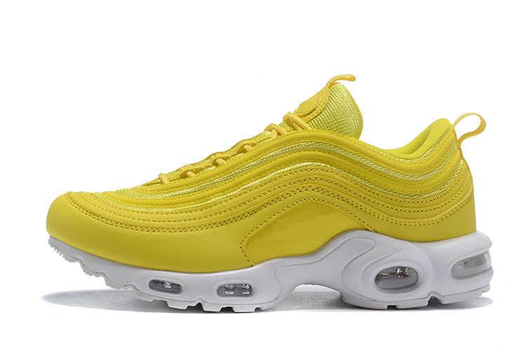 Yeni erkek ayakkabıları klasik 97 koşu ayakkabıları kadınlar için siyah beyaz spor ayakkabı spor ayakkabı nefes yastık erkekler sneakers